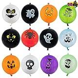 JOYIN 36 PCS Halloween Punch Balloons Decoration Set for Kids Halloween Party Supplies, Halloween Party Treat Bags Gifts and Decorations