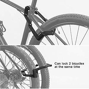 DINOKA Candado Bici Plegable, Cerradura de Bicicleta portátil de aleación de Acero de Alta Resistencia Seguridad antirrobo Cerradura de Bicicleta con Llaves y Montaje de Cerradura