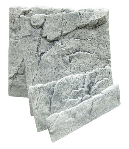 Marina A5001 Back to Nature 3D Aquarienrückwand - White Limestone 50B, Höhe 45 cm