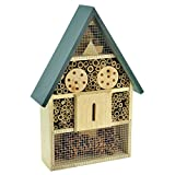Gardirect Luxurious Insect Hotel, Bee & Bug House, Large Size, 11'' x...