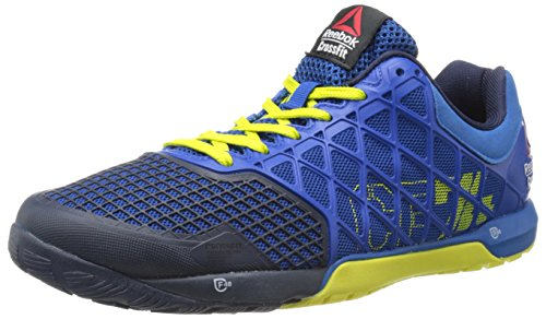 Reebok Men's Crossfit Nano 4.0 Training Shoe, Impact Blue/Chartreuse/Collegiate Navy, 7.5 M US