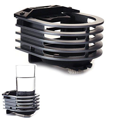 Langdy Soporte de coche ajustable de aleación de aluminio, soporte de salida para vasos, soporte para bebidas, para refrigerador de aire, latas de litro, tazas de café, termo