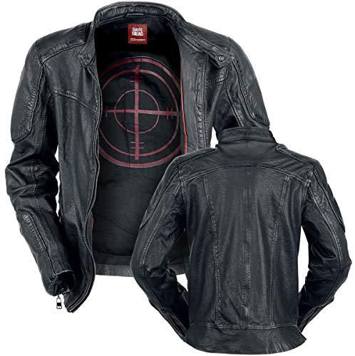 Suicide Squad Deadshot Männer Lederjacke schwarz XL