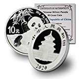 Stock Photo; image is indicative of quality. You will receive one 2020 Silver Panda coin per purchase. Coin will come in original Capsule with CoinFolio Certificate of Authenticity Metal Content: 30 Gram Purity: .999 Fine Silver