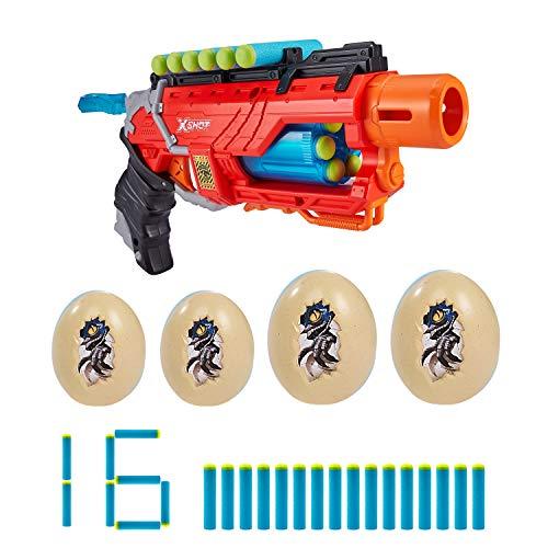 ZURU X-SHOT 4866 Dino Attack Striker Foam Blaster, 16 Darts, 4 Eggs