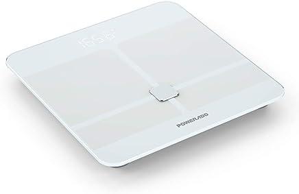 POWERADD Báscula Digital con Bluetooth 4.0 y Báscula de Baño con tecnología avanzada BIA con Color Blanco