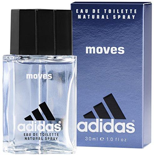 adidas Moves For Him Eau de Toilette – Das Herren Parfüm mit aufregendem, erfrischendem Duft verleiht eine vitalisierende Wirkung – 1 x 30 ml