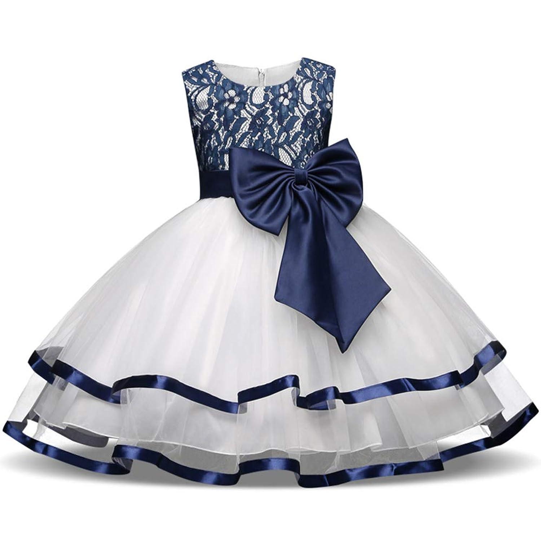 Ymgot 子供ドレス フォーマル ドレス リボン チュールスカート ワンピース ピアノ発表会 演奏会 結婚式