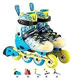 Patines en línea Ajustables, con Ruedas iluminadoras Safe Durable High Rementn Rading Roller Patines, ABEC 7 Rodamientos, para niñas y niños, Hombres y Mujeres Patines. Zapatos Patines