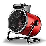 BUSUANZI Calefacción Garaje 2000W De Alta Potencia Calefactor Baño Ventilador Calefactor Control Termostato Súper Distancia Viento,Red-Aluminumalloy