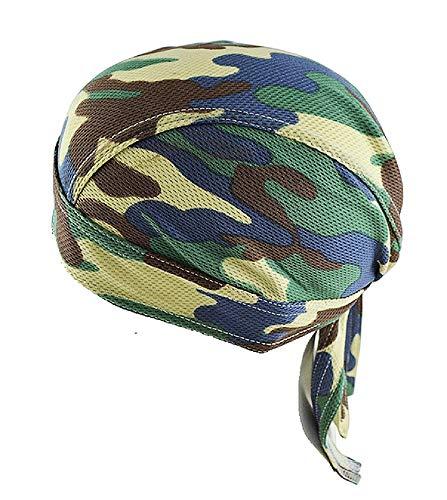 Apanphy® Camouflage Piraten Bandana Cap, Outdoor Sport Kopftuch Kappe Mütze Fahrrad Kopfbedeckung Stirnband Radfahren Hat Biker Headwear Schweißband Skull Cap für Männer und Frauen