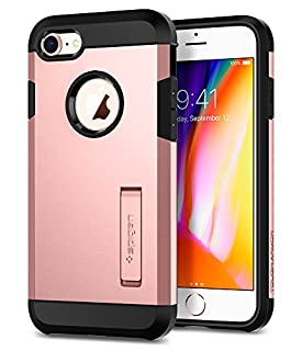 "Spigen Tough Armor 2 Works with Apple iPhone 4.7""/New iPhone SE(2020)/ iPhone 8 Case (2020) - Rose Gold (B07481XP9F) 