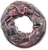 styleBREAKER bufanda tubo bucle animal print con modelo de paisley 01014010, color:gris