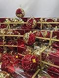 RB - Juego de 108bolas de Navidad rojas y doradas