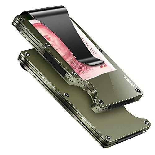 Minimalist Aluminum Fibre Slim Wallet, Slim Wallet & RFID Blocking Front Pocket Wallet,Minimalist...