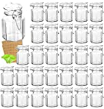 Spice Jars, KAMOTA 30 PACK 3.5 oz Small Glass Jars with Leak Proof Rubber Gasket and...