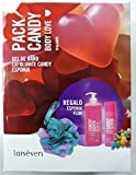 Laiseven Pack Candy Body Love Gel Candy 750 ml + Exfoliante Candy 300 ml + Esponja