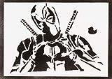 Poster Deadpool Masacre Grafiti Hecho a Mano - Handmade Street Art - Artwork