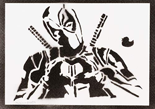 Poster Deadpool Handmade Graffiti Street Art - Artwork