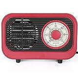 PBTRM Radiador Retro, Mini Calefactor Cerámica, Uso Personal 500 W, Protección contra Sobrecalentamiento Termostato Constante Ahorro Energía,Rojo
