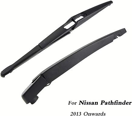 SLONGK Escobillas del Limpiaparabrisas Trasero del Automóvil Atrás Brazo del Limpiaparabrisas, para Nissan Pathfinder Hatchback