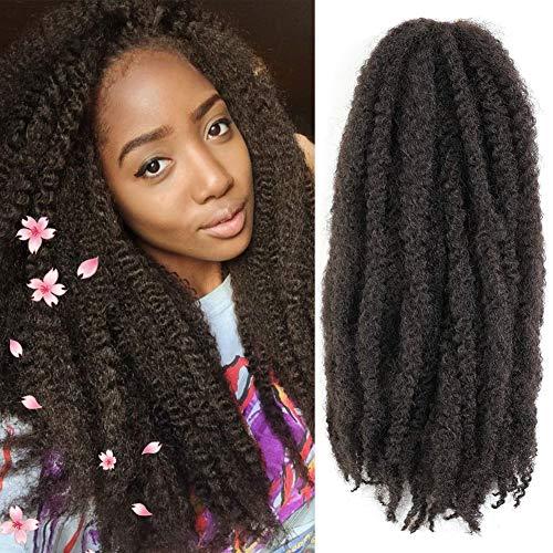 3 Packs Marley Twist Braiding Hair Synthetic Marley Hair Afro Kinky Marley Hair Braids Crochet Twist Kanekalon Hair Extensions(4#)