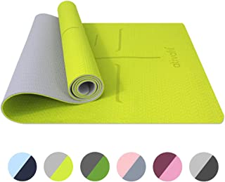 ATIVAFIT Non Slip TPE Yoga Mat Eco Friendly Exercise & Workout Mat with Carrying Strap Types of Yoga, Extra Large Exercise- 72x25.2x0.24 Inch