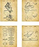 Pizza Patent Wall Art Prints - set of Four (8x10) Unframed - wall art decor for pizza lovers