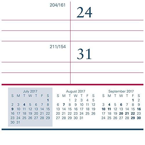 """AT-A-GLANCE Academic Desk Pad Calendar, July 2017 - June 2018, 22"""" x 17"""", Two-Color (AYST2417) Photo #6"""