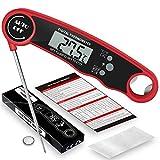 Delee Thermomètre à viande à lecture instantanée – Meilleur thermomètre étanche ultra rapide avec rétroéclairage et étalonnage Thermomètre numérique pour cuisine, cuisine en plein air