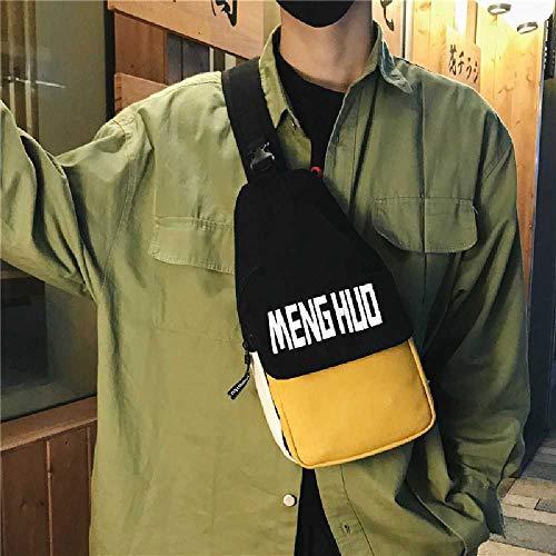 ghjg Sac Crossbody Sac D'épaule Sac Messenger Sac Japonais Rétro Simple Hommes Et Femmes Sac à Dos De Toile Fille Petit Sac à Dos Sombre