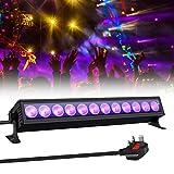 GLIME UV LED Light Bar 36W Ultraviolet Black Light 12 LEDs 360° Adjustable