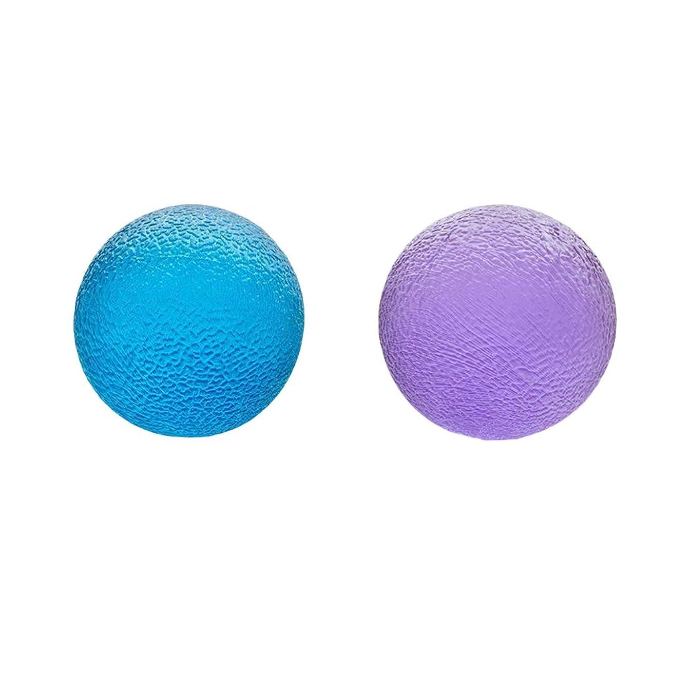 歯車ジョブシンカンHealifty ハンドストレスボールセラピーボールストレス解消のためにハンドグリップボールを絞る関節炎の痛みを軽減するセラピー強化治療2個(青と紫)