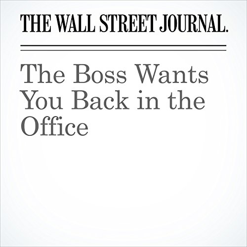 The Boss Wants You Back in the Office copertina