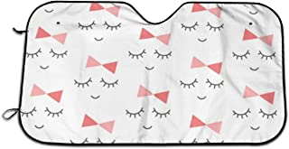 Mod Baby Miss Sleepy Eyes Universal Car Windshield Visor,Auto Sun Shade Curtains Suitable for Most Car Trucks SUV UV Protection Front Windshield Sun Visor Sunscreen Insulation Sun Shield 70CM