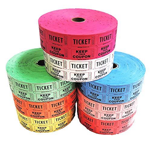 white 50 50 raffle tickets - 6
