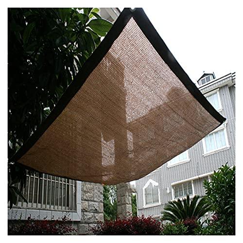 AWSAD Velas de Sombra HDPE Anti-UV Lona Toldo Exterior Piscina Bloqueador Solar Paño de Sombra Planta Suculenta Toldo Completo Zonas de Parking (Color : Brown, Size : 6x7m)