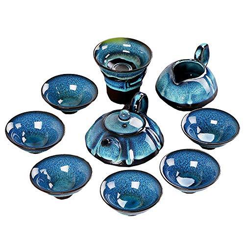 Juego de té Europeo Tianmu Glaze Oil Drop Jianjian Juego de