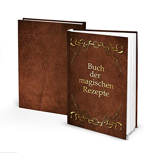 Logbuch-Verlag Libro de recetas para escribir, libro de recetas magnéticas, color marrón...
