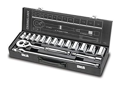"""Channellock 32161 1/2"""" Drive Standard Socket Set, 16 Piece"""