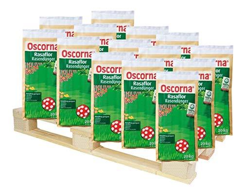 Oscorna® Rasaflor Rasendünger 1000 kg - Ein biologischer Langzeitdünger. Sorgt für einen dichten, sattgrünen Rasen, verdrängt Unkraut und Moos.