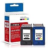 Cartuchos de tinta, cartuchos de tinta de gran capacidad y fácil de agregar, adecuados para cartuchos de tinta hp816 negro hp817 color, adecuados para cartuchos de impresora HP3938 3538 F2238 4308 F3