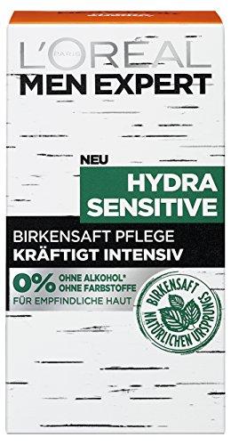 L'Oréal Men Expert Hydra Sensitive Gesichtspflege, mit Birkensaft, empfindliche, trockene und sensible Männerhaut beugt schuppiger Haut vor (1 x 50 ml)