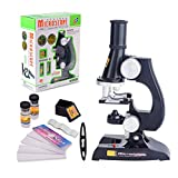 ALEENFOON Kids Microscope, 450x, 200x, 100x Magnification Children Science Microscope Kit with LED Lights Includes Accessory Toy Set for Beginners Early Education