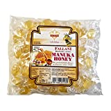 FALLANI CANDIES caramelos de miel orgánicos 500gr bolsa de caramelos caramelos de miel de manuka producción italiana productos sin gluten caramelos orgánicos caramelos duros envoltura transparente