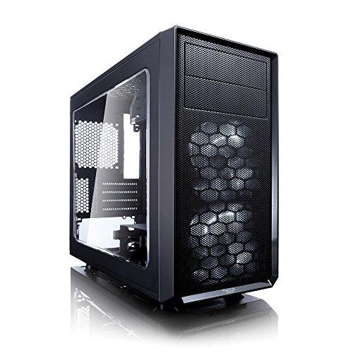Fractal Design Focus G Mini Black Window, PC Gehäuse (Midi Tower mit seitlichem Fenster) Case Modding für (High End) Gaming PC, schwarz