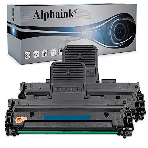 Kit 2 Toner Alphaink compatibile con Samsung MLT-D1082S ; Compatibile con le stampanti Samsung ML-1640 ML-1641 ML-1645 ML-2240 ML-2241