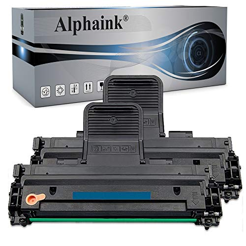 Kit 2 Toner Alphaink compatibile con Samsung MLT-D1082S ; Compatibile con le stampanti Samsung ML-1640 ML-1641 ML-1645 ML-2240 ML-2241