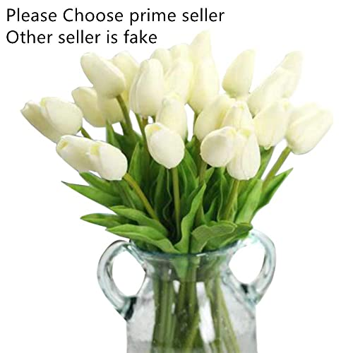 Artificial FlowersFake Flowers Bouquet Silk Tulip Real Touch Bridal Wedding For Home Garden