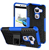 Newlike Armor Shock Proof Case Cover with Back Stand for LeEco Le2 -Blue